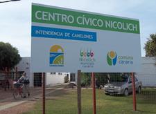 Centro Cívico de Nicolich donde funciona el Municipio.